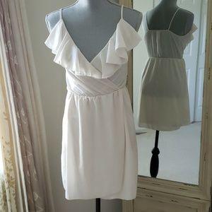 White ruffle dress / fairy dress